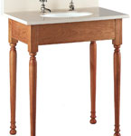 Short Apron Open Style Vanities without Drawers