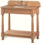 Short Apron Country Style Open Vanity without Drawers
