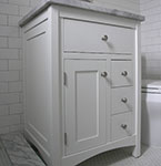 "Shaker style 24"" vanity with 3 drawers"