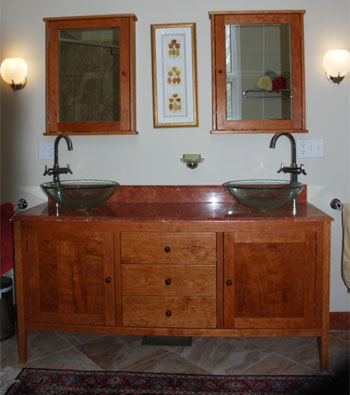 Shaker Style Double Sink Bathroom Vanity