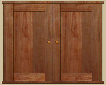 cherry facsimile double door medicine cabinet