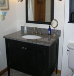 Shaker Style vanity with two flat panel doors